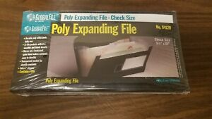 Expanding Organizer File Folder Check Size Important Papers Black