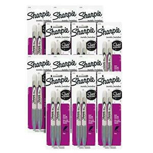 Sharpie Metallic Permanent Markers Fine Point Metallic Silver Pack Of 24