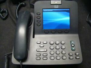 Cisco Cp 8945 Ip Video Phone Handset Charcoal W stands Lot Of 10