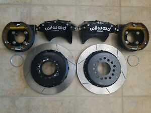 Wilwood Disc Brake Kit Rear Parking Gm Chevy 2 75 13 Rotors Black
