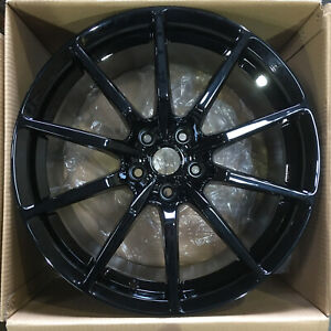 4 new 19 Rep Gt350 Style Fit Mustang Wheels 19x10 5x114 3 40 Black Rims