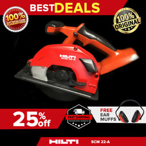 Hilti Scm 22 a Cordless Metal Saw Preowned Free Ear Muffs Fast Shipping