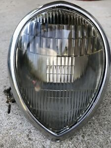 1937 38 39 Complete Ford Original Headlight Wiring Reflector Script Glass Ring