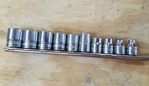 Snap On 11 Pc 3 8 Drive 6 point Sae Shallow Socket Set