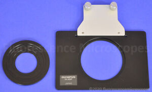 Olympus Ix hop Stage Adapter Plate Petri Dish Holder With Insert For Microscope