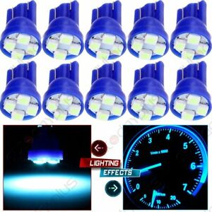 10x T10 194 Ice Blue Led Instrument Light Dashboard Panel Gauge Lamp For Honda