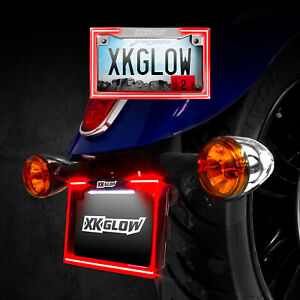 Chrome Motorcycle Led License Plate Frame With Running Turn And Brake