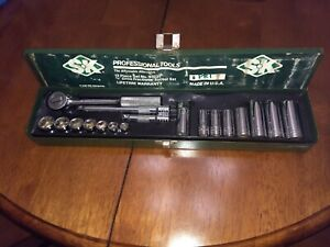 Sk 18 Piece Sae 6 Point 3 8 Drive Socket Set