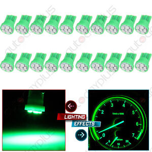 20x Super Green 6 smd Led T10 194 Speedometer Instrument Dash Light For Toyota