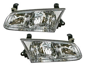 For Camry 2000 2001 Headlight Lamp Headlight Pair Driver And Right Set