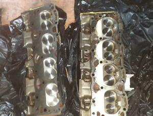 Chevy 305 Cylinder Heads Stainless Valves Pre owned Rebuilt