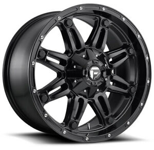 4 New 20 Fuel D625 Hostage Wheels 20x10 5x5 5 5x150 18 Gloss Black Rims