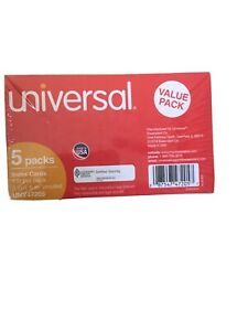 Universal Ruled Index Cards 4 X 6 White 500 pack 47235
