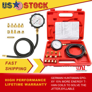 Auto Transmission Engine Oil Pressure Tester Gauge Diagnostic 500psi Fitting Us