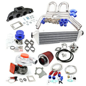 T3 T4 Turbo Kit For Honda Civic Si K20z3 Fg2 Accord Tsx Crv Fmic Wg Bov Manifold