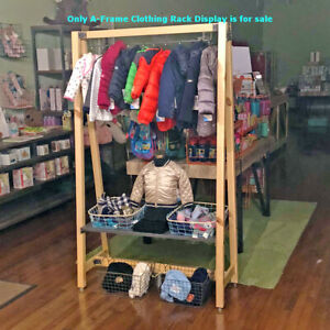 Urban Collection Wood A frame Clothing Rack Display 40 W X 67 5 H Inches