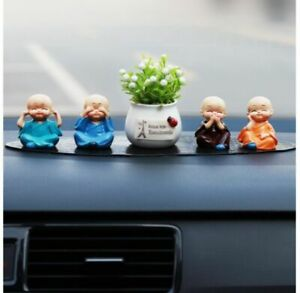 New Fashion Car Decoration Cute Dolls Interior Accessories Cute Monk Sets