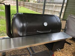 Custom Built Bbq Smoker On Trailer