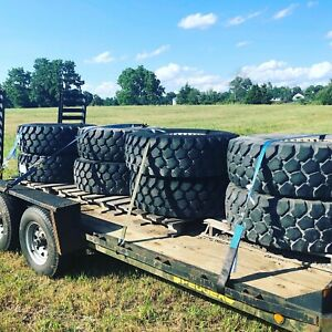 Military Wheels And Tires Michelin Tires 395 85 20 And Aluminum Rims