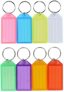Key Tags Ring Bookbag Luggage Name Id With Split Holder Label Window Pack Lot