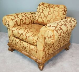 Erwin Lambeth Tomlinson Furniture Company Burnout Velvet Upholstered Club Chair