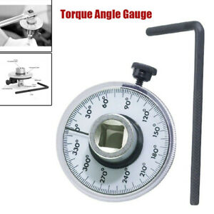 1 2 Drive Torque Angle Rotation Scale Gauge Meter 360 Measurer Auto Wrench Kit