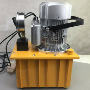 220v 50hz Electric Driven Hydraulic Oil Pump Single Acting Manual Valve 70 Mpa