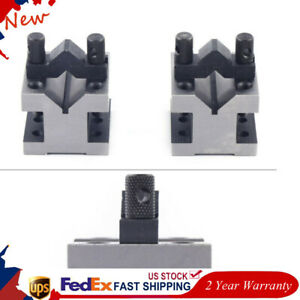 Cast Iron Vee Blocks Metalworking Matched Pair Clamp V Block 60 60 50mm Us