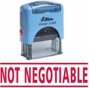 Not Negotiable Self Inking Rubber Stamp Custom Office Stationary Stamp e113a