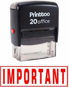 Important Self Inking Rubber Stamp Office Stationary Custom Stamp prss155c