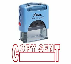 Copy Sent Self Inking Rubber Stamp Office Stationary Custom Stamp shiny e43a