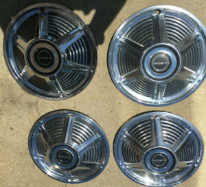 1964 1 2 1965 Ford Mustang Hubcaps Oem set Of 4 Used 13 Inch Nice