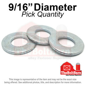 9 16 Sae Flat Washers Low Carbon Steel Zinc Plated pick Quantity