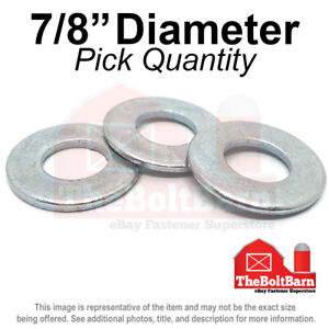 7 8 Sae Flat Washers Low Carbon Steel Zinc Plated pick Quantity