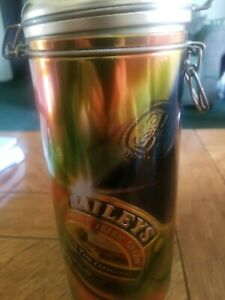 Baileys Irish Cream Liquor Tin Canister 1996 Edition Hinged Lid Pre-Owned