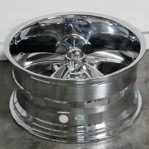 4 New 18 Ridler 695 Wheels 18x8 5x4 75 5x120 65 0 Chrome Rims