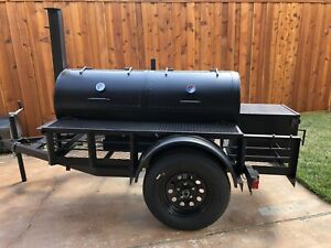 Bbq Pit Grill Smoker Trailer