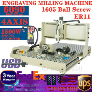 Cnc 6090 4axis Usb Port Router Milling Engraving Diy 24 x36 Cnc Cutting Machine