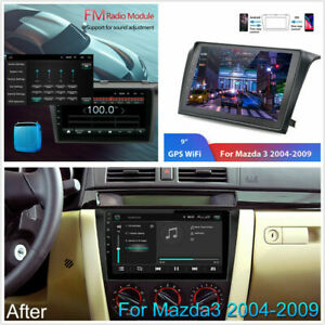 Android 9 1 Car Radio Gps Navigation Bluetooth Head Unit For 2004 2009 Mazda 3