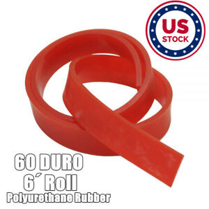 Usa 6ft Silk Screen Printing Squeegee Blade 60 Duro Polyurethane Rubber Red