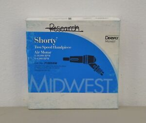 New Dentsply Midwest Shorty Two Speed Handipece Air Motor Cat No 710024w