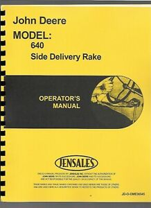 John Deere 640 Side Delivery Rake Owners Operators Manual Ome36545