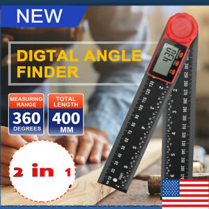 Lcd Digital Angle Finder Ruler 360 Protractor Measure Tools 200mm Angle Gauge