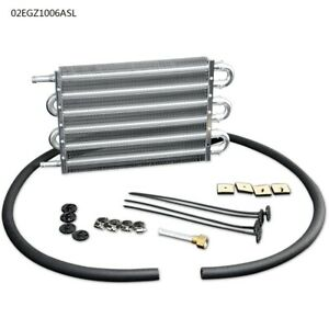 6 Row Radiator Remote Aluminum Transmission Oil Cooler Mounting Kit New