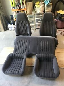 1993 2002 Camaro Seats Cloth Set Front Rear Passenger Driver Side Graphite