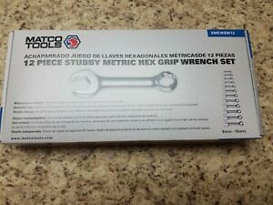 Matco 12 Piece Stubby Metric Hex Grip Wrench Set 8 19mm Smewsm12