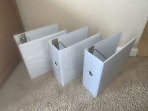 3 3 Ring Binder White 5 Clear View Pockets Office Organizer
