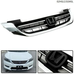 New Front Bumper Radiator Upper Chrome Grill Fit For Honda Accord 2013 2014 2015