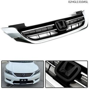 New Front Bumper Radiator Upper Chrome Grill For Honda Accord 2013 2014 2015