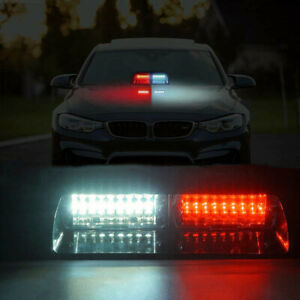 16led Red White Car Dash Windshield Emergency Hazard Flash Strobe Light Lamp 12v